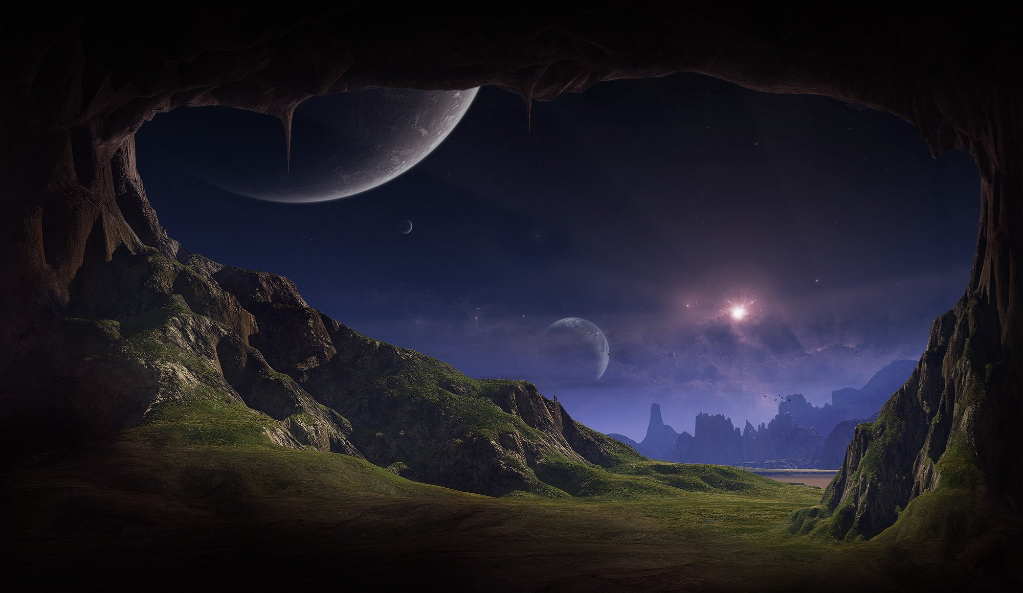 alien planet landscapes wallpaper wallpapersafari