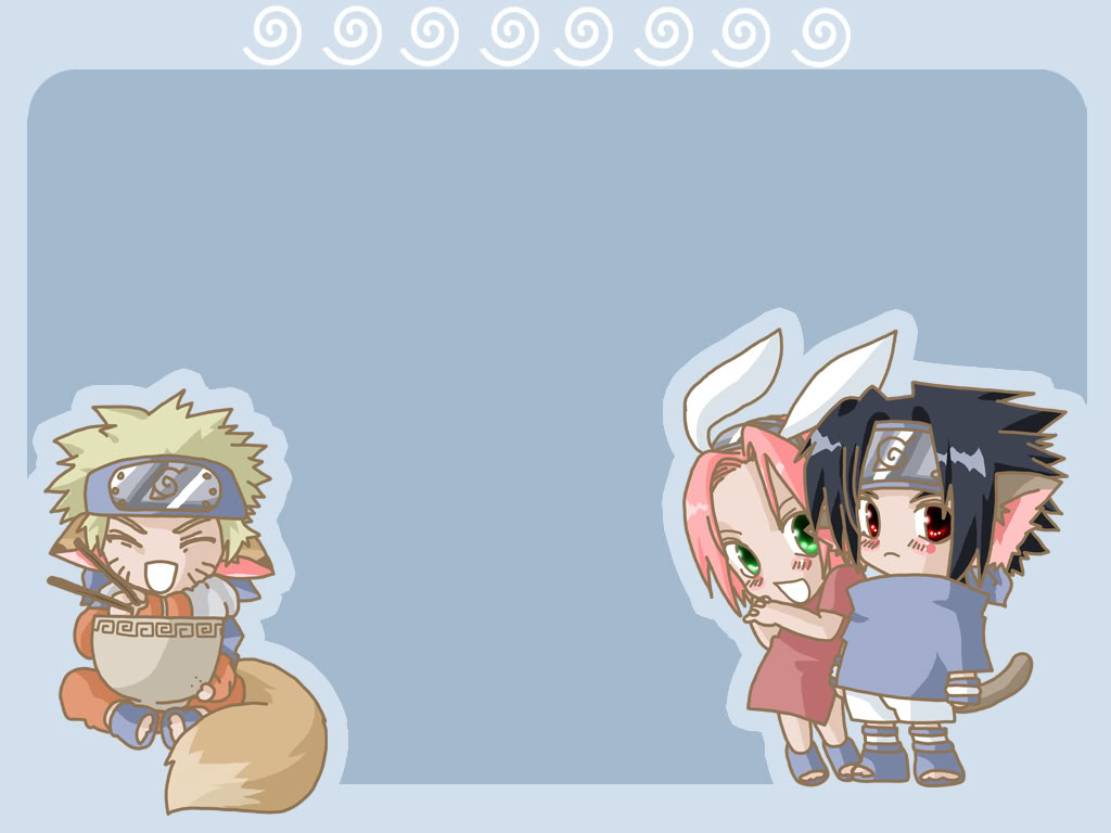 Animal Chibi Naruto Wallpaper 1024x768