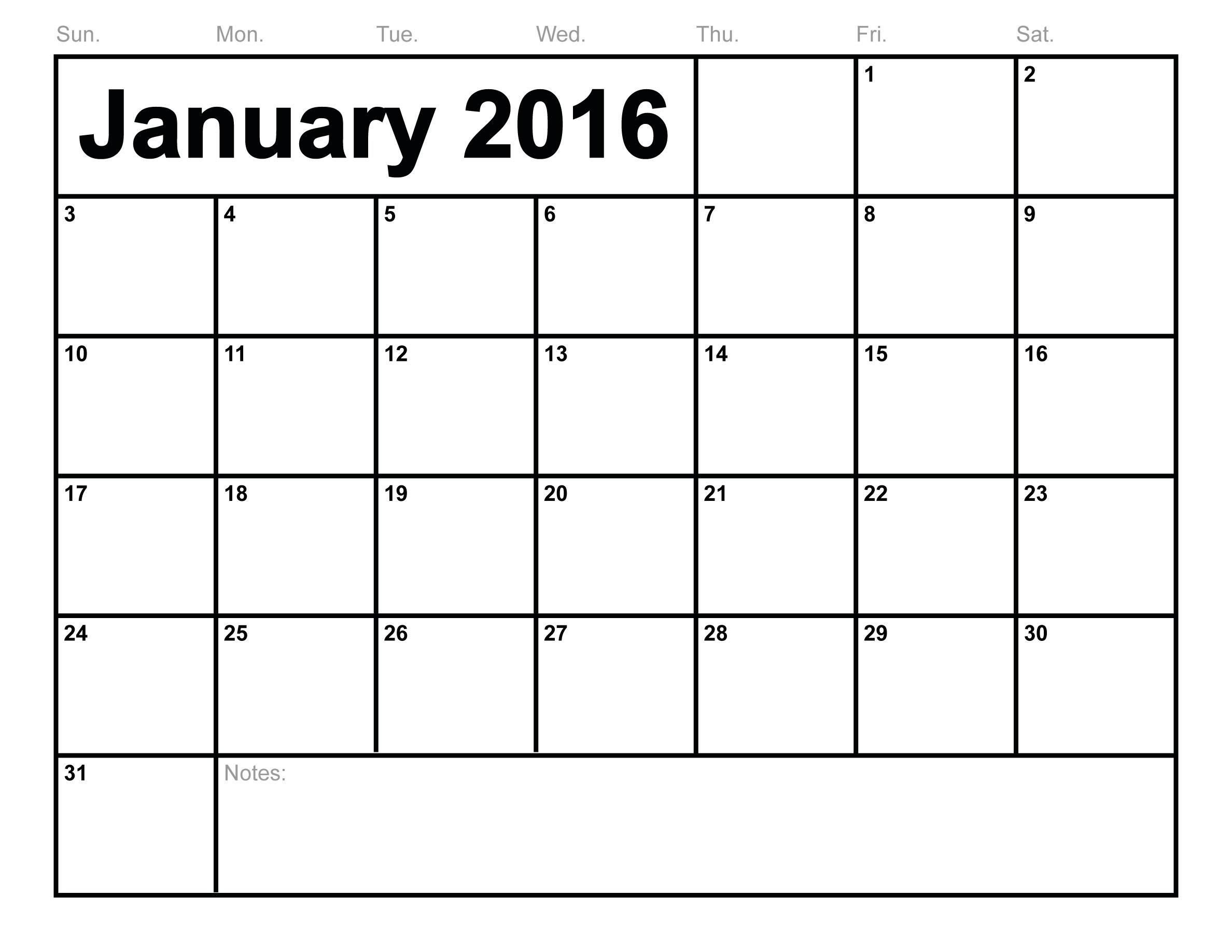 january 2016 calendar printable free blank calendar 2016 2jpg 2376x1836
