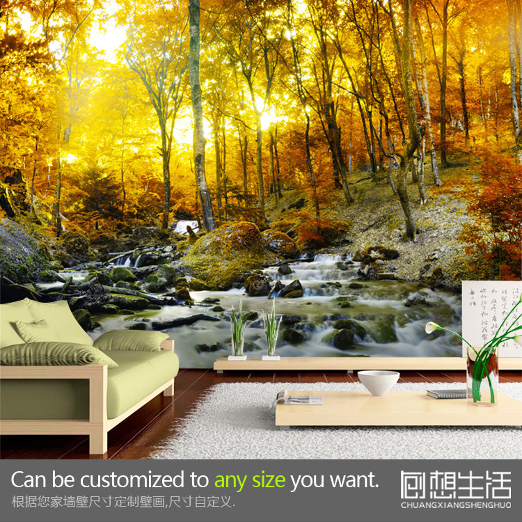 Mural The natural landscape mural wallpaper personalized customized 750x750