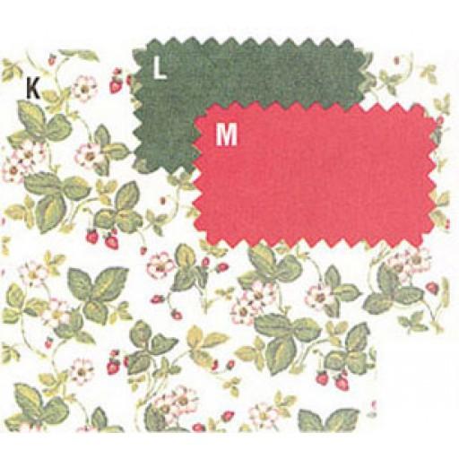 Dollhouse Miniature   Wallpaper Schumacher Wild Strawberry MG165D2 512x512