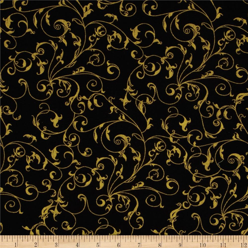 Black And Gold Patterns Filigree blackgold 1000x1000