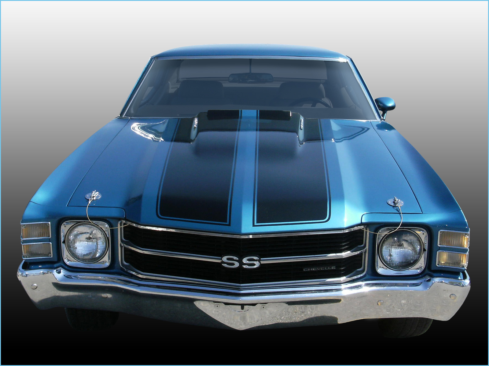 Chevelle SS Wallpaper 1971 Blue Hardtop 1600x1200 04 1600x1200