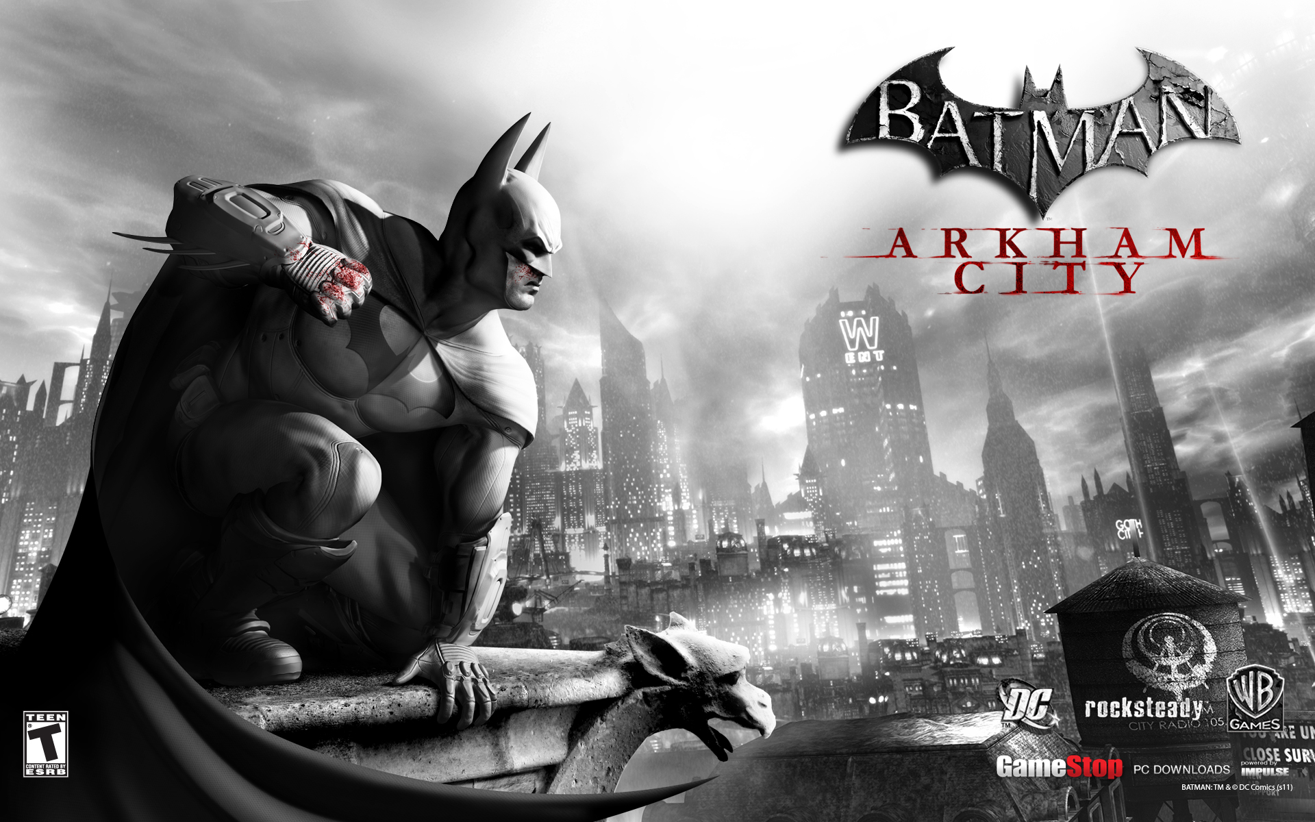 city arkham community wallpapers exclusive batman 1920x1200