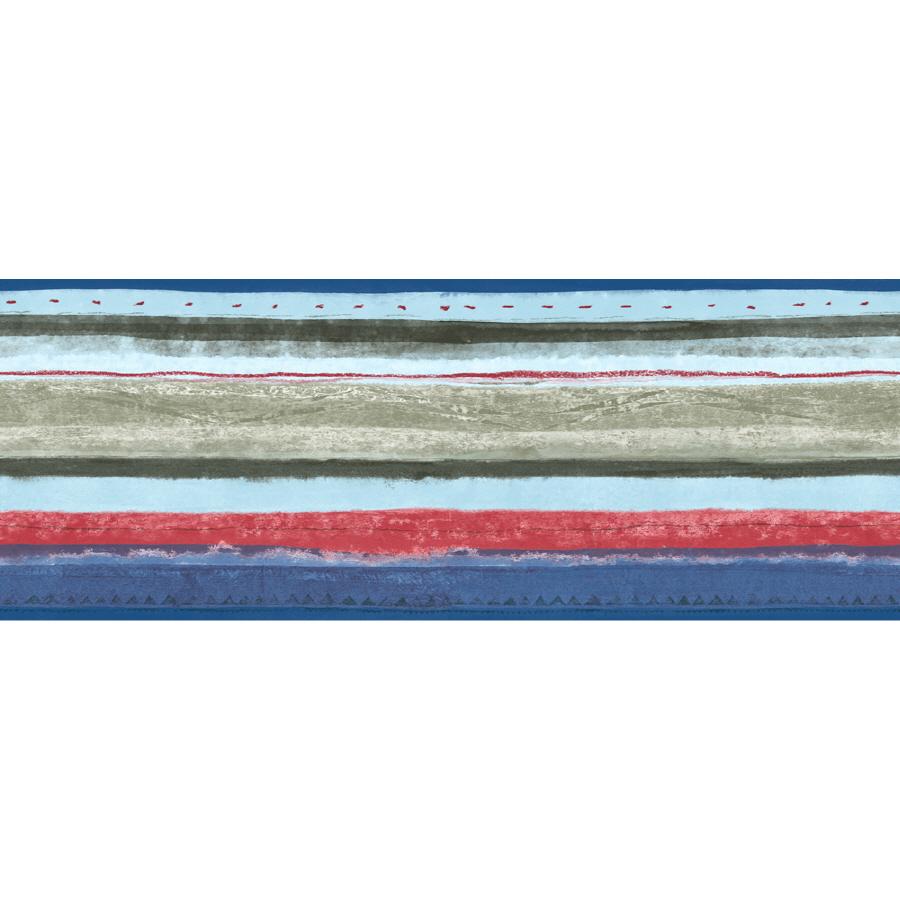 Multicolor Stripe Prepasted Wallpaper Border at Lowescom 900x900