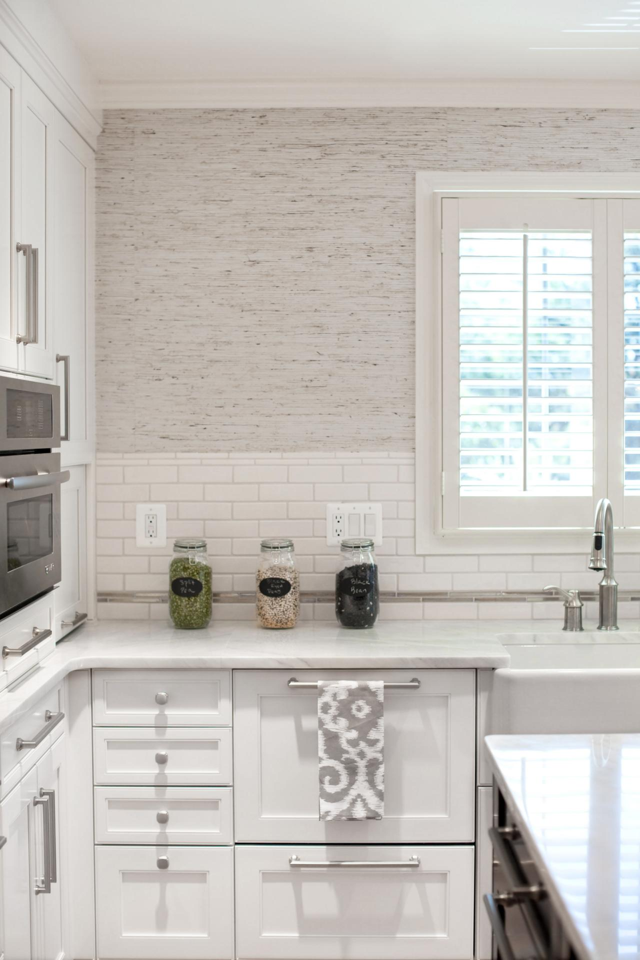 Kitchen Wallpaper Black and White Transitional Kitchen Photos HGTV 1280x1920