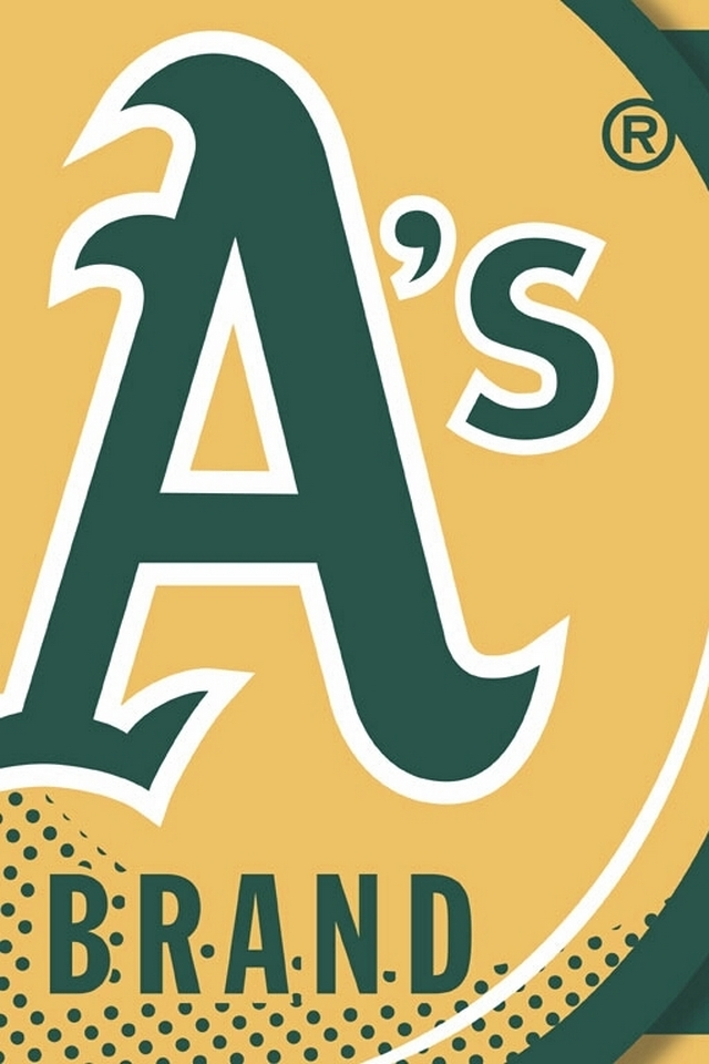 Oakland Athletics MLB   Download iPhoneiPod TouchAndroid Wallpapers 640x960