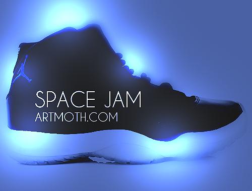Space Jam Jordan Glowing PSP Backgrounds 500x379