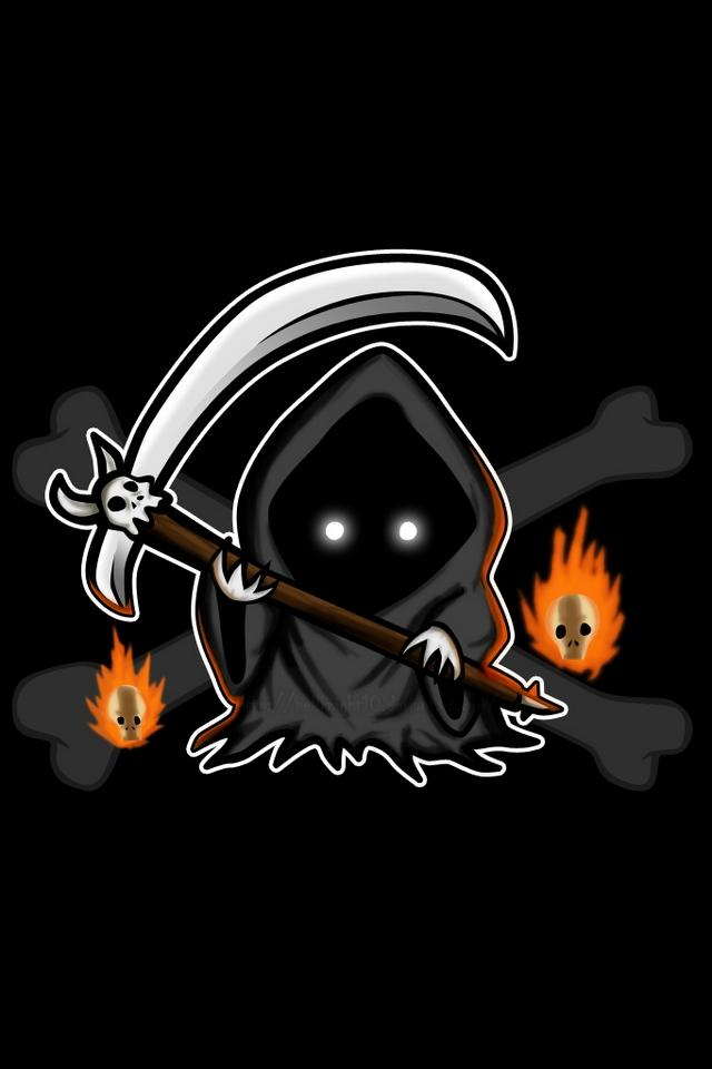 Little Grim Reaper   Download iPhoneiPod TouchAndroid Wallpapers 640x960