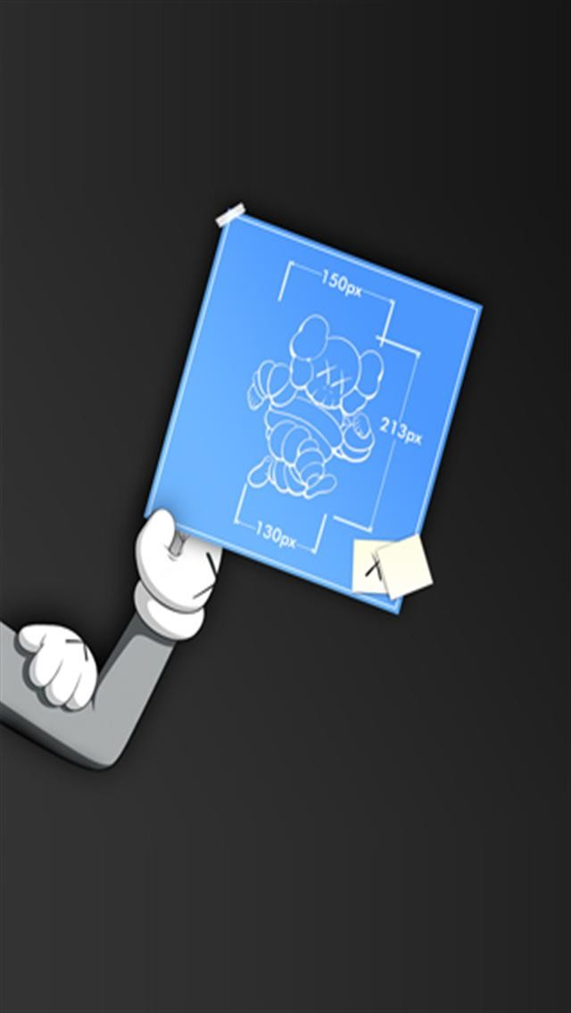 Kaws iPhone Blueprint HD 640x1136 wallpapers 640x1136