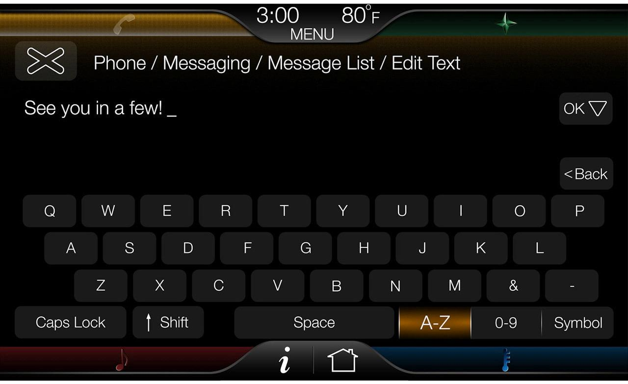 MyFord Touch messaging display photo 1280x782