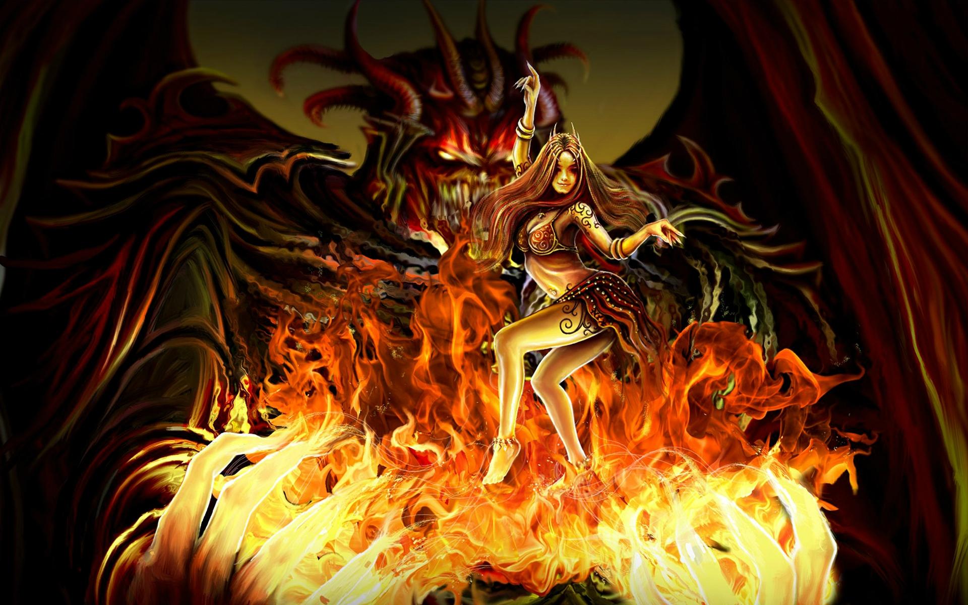 Evil demon wallpaper wallpapersafari for Domon pictures