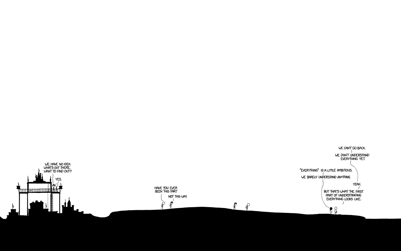 I made a Time wallpaper thought Id share it here xkcd 1280x800
