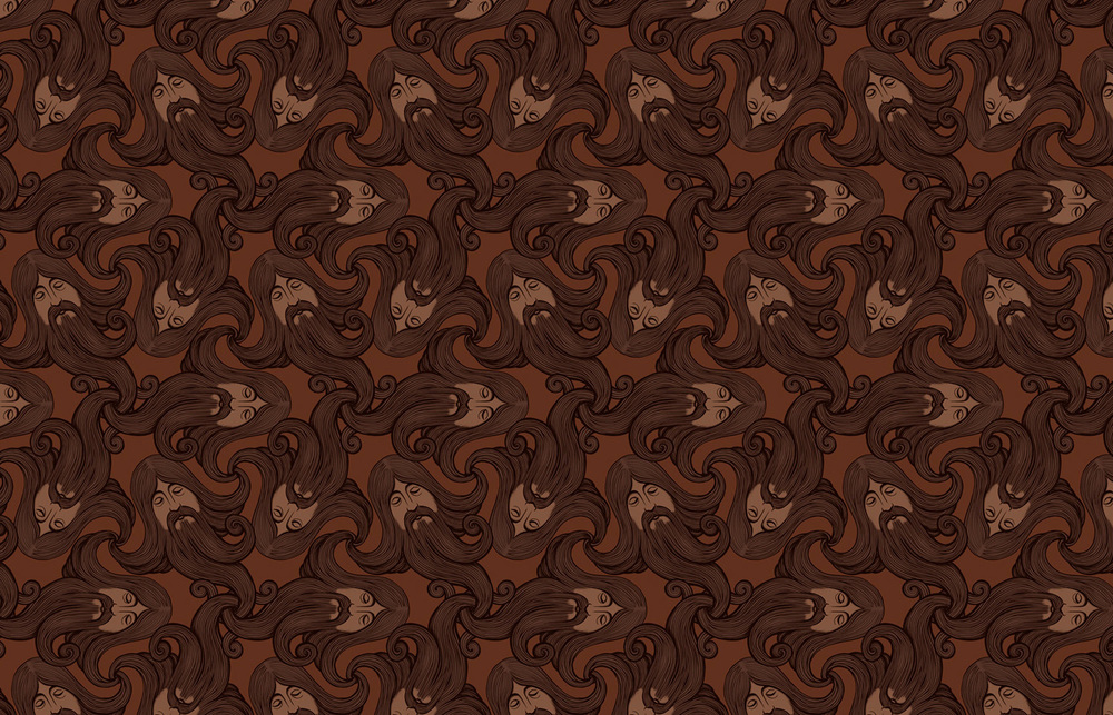 The Beards   Tiling Wallpaper Chris Edser 1000x643