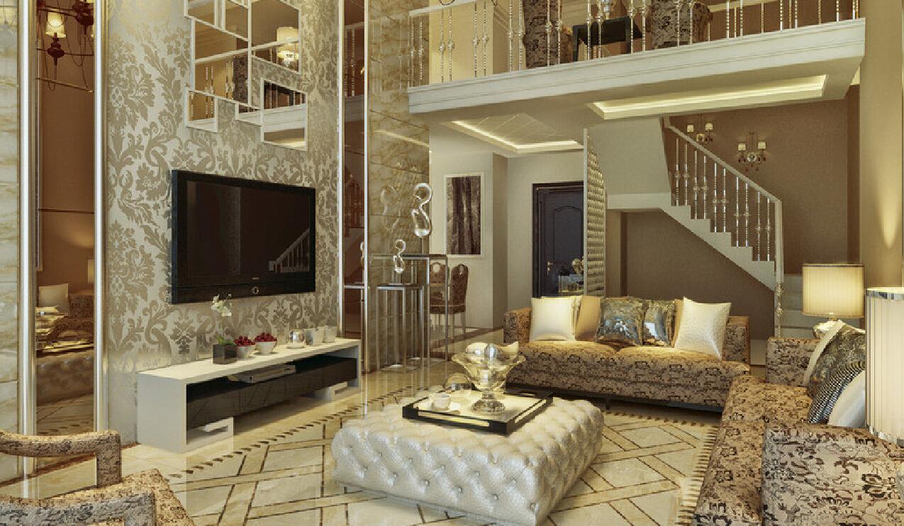 Wallpaper designs for living room 3D House 1275x742