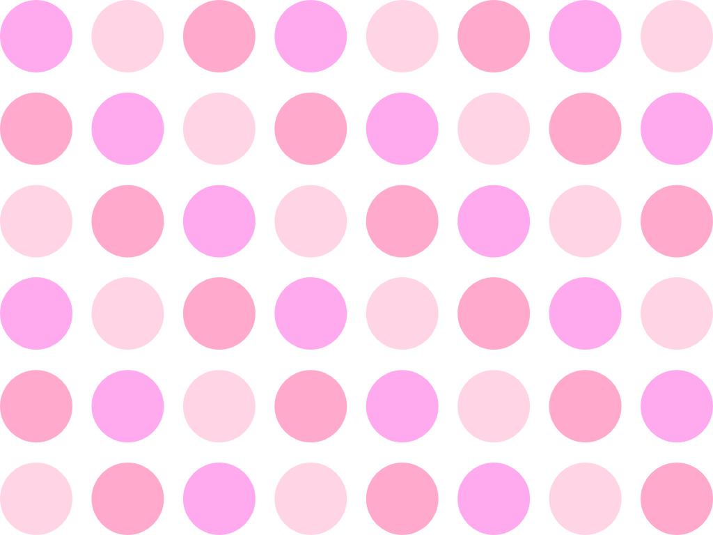 pink polka dot wall border