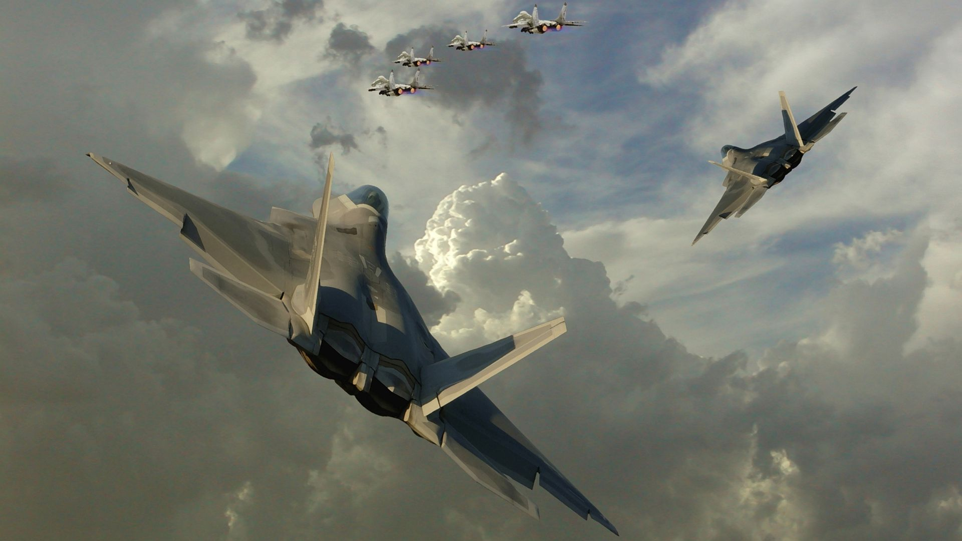Lockheed Martin F 22 Raptor Widescreen Wallpaper   7274 1920x1080