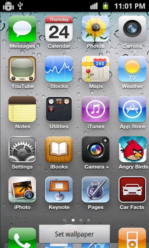 Fake iPhone 4s Live wallpaper   screenshot 480x800