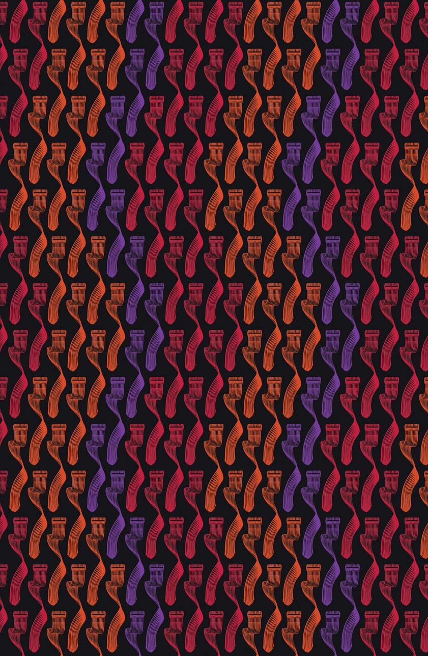 Geometry Wallpaper Reds Purple on Black from Moody Monday Made By 841x1288