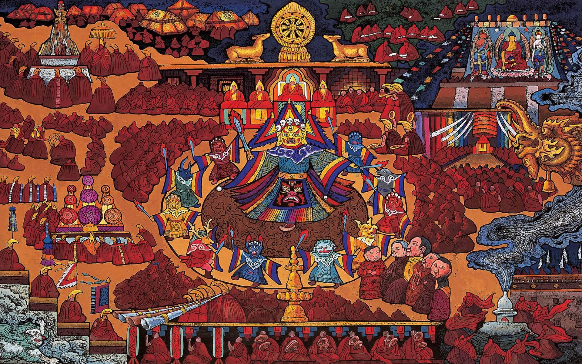 tibetan art 29 hd tibetan art 26 hd tibetan art 23 hd tibetan art 20 1920x1200