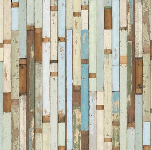 fake reclaimed wood wallpaper from Dutch designer Piet Hein Eek 500x494