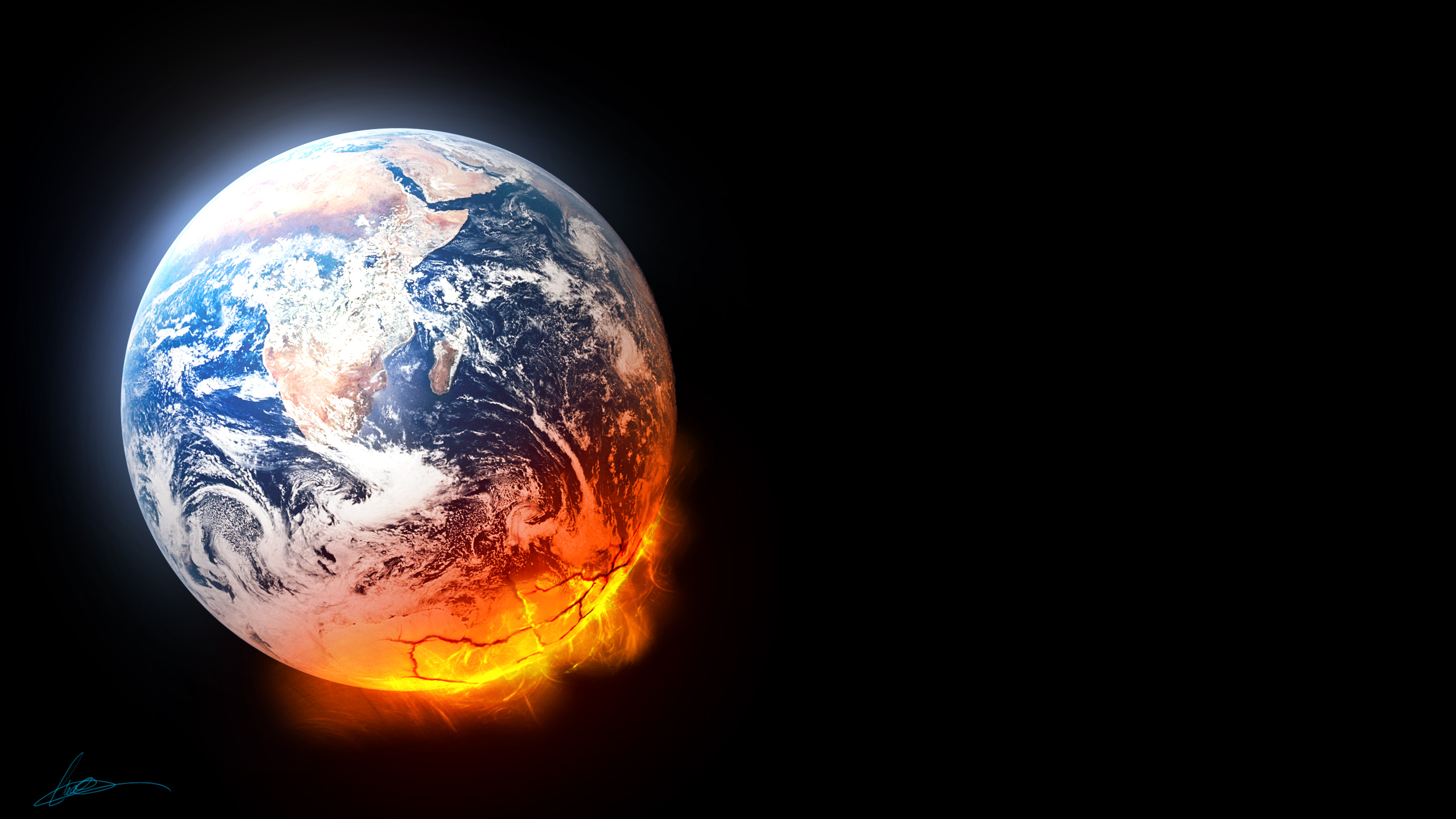 Pictures earth at night wallpaper earth at night desktop background 2560x1440