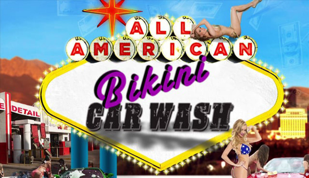 All American Bikini Car Wash Poster HD Wallpaper   StylishHDWallpapers 1024x589