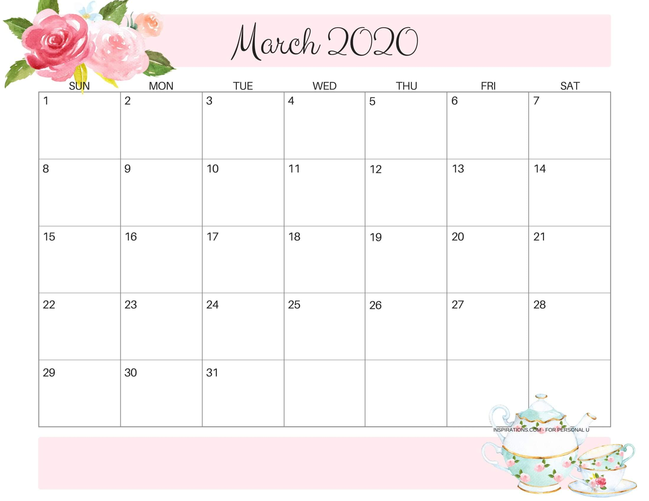 Cute March 2020 Calendar Archives   2019 Calendars for Students 2200x1700
