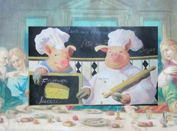 Pigs Wallpaper Border Rolls Three Pigs Wallpaper Border Chef Pigs on 570x422
