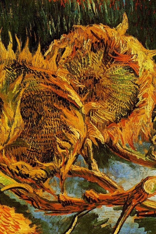 Van gogh sunflowers wallpaper wallpapersafari - Vincent van gogh wallpaper ...