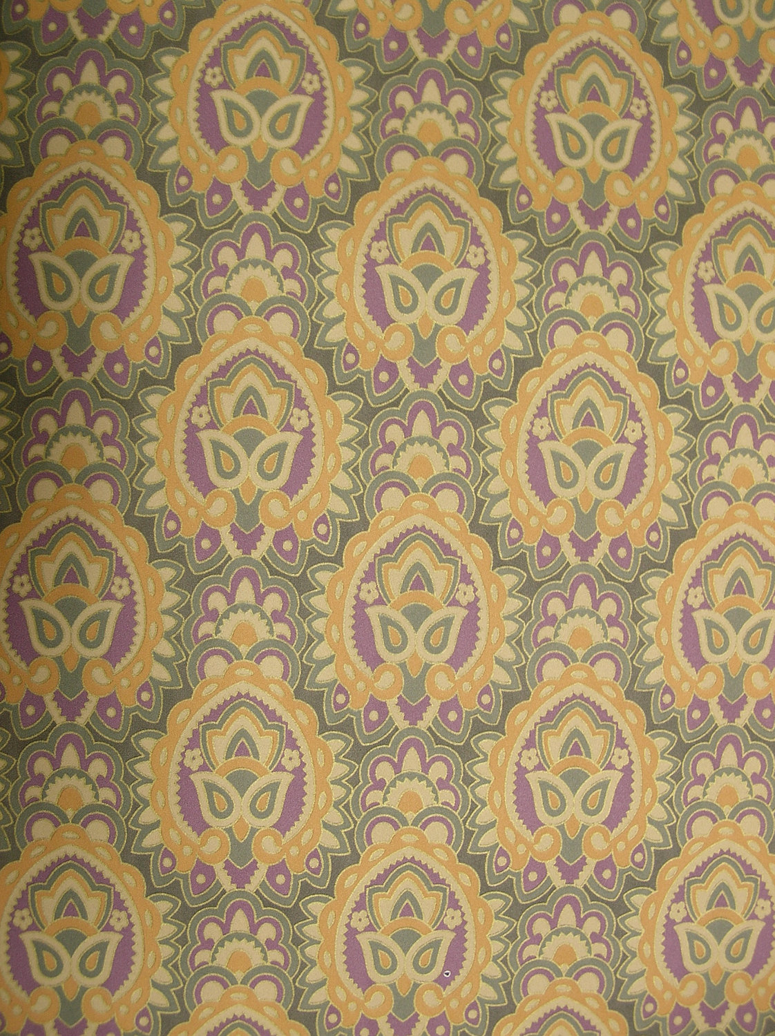 Wall Paper Boho Indian Mod Retro 1970s 70s Wallpaper Covering Roll 1122x1500