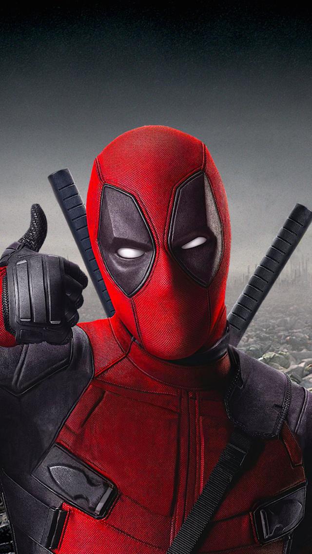 Deadpool Thumbs Up iPhone 5 Wallpaper 640x1136 640x1136