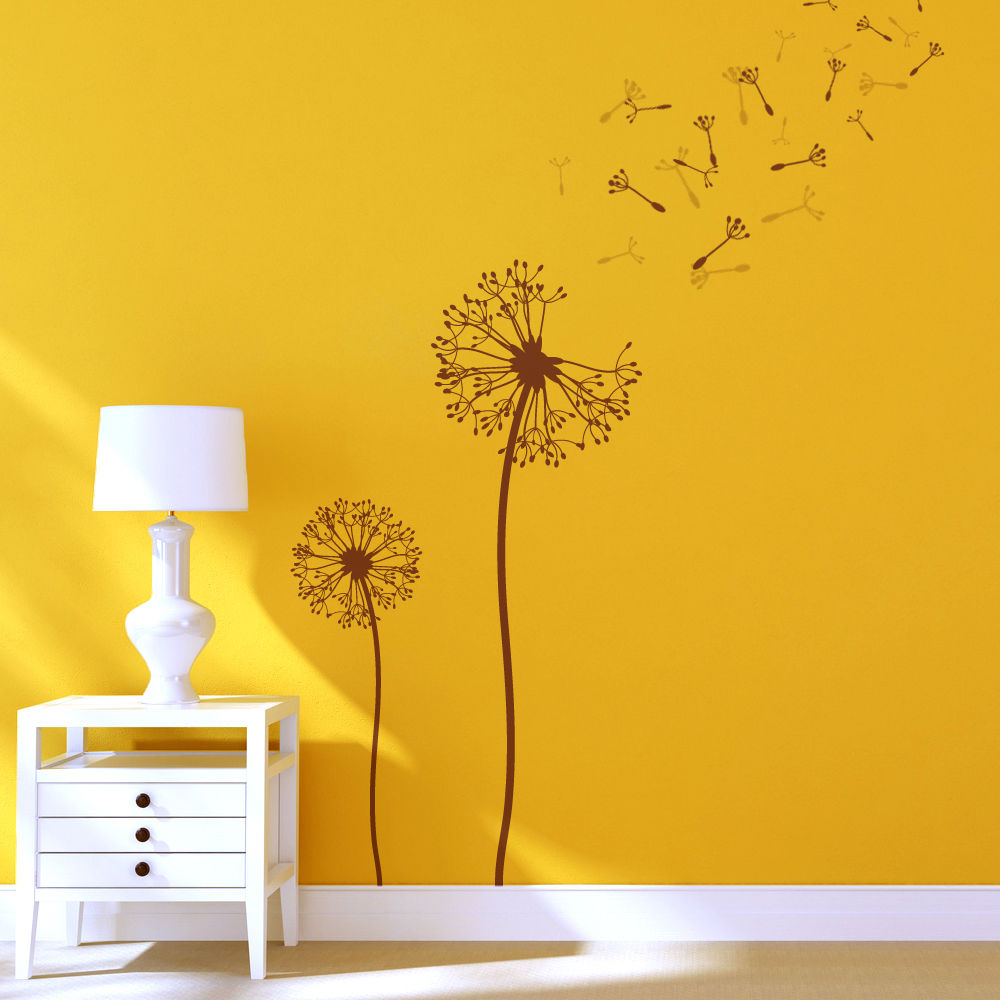 Dandelion Flower Stencils for Wall art DIY decor just like Wallpaper 1000x1000
