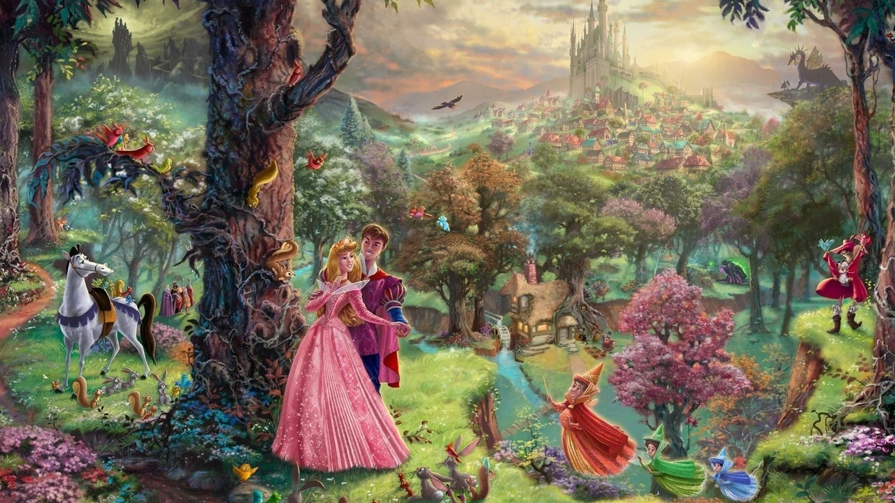 Thomas Kinkade Disney Dreams   Disney Princess Wallpaper 31528031 1280x720