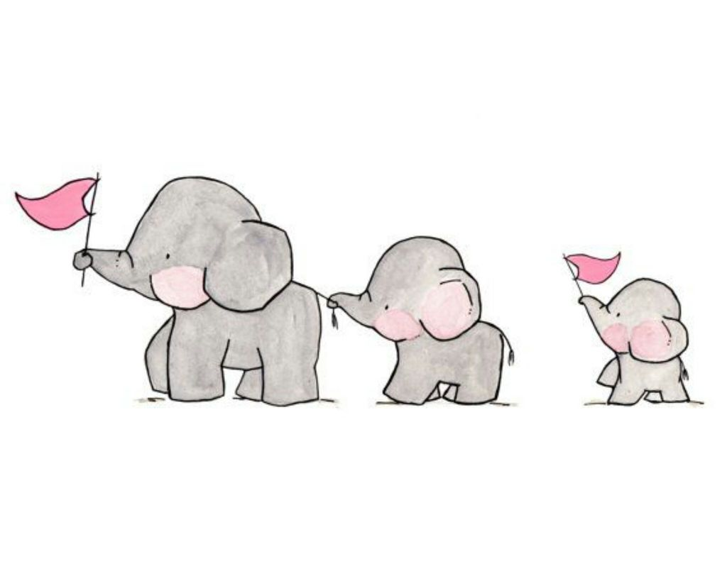 Free Download Group Of Familly Elephants Love Cute Animals We Heart
