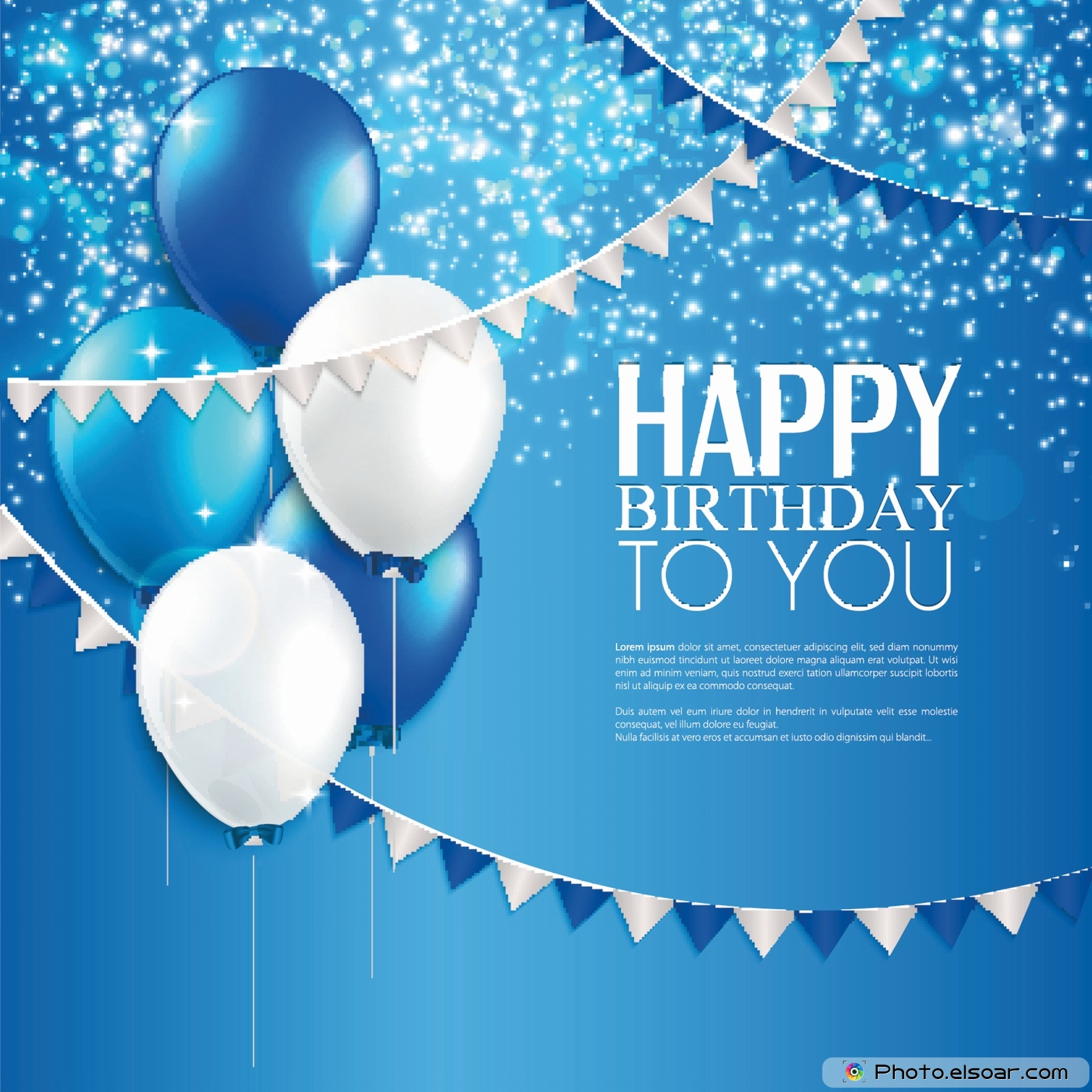 free download happy birthday to you on a blue background