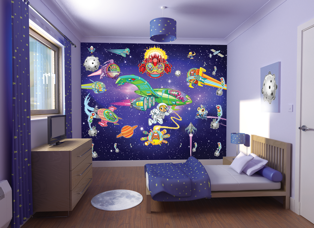 Outer Space Theme Bedroom Decorating Ideas Room Decorating Ideas 1000x729