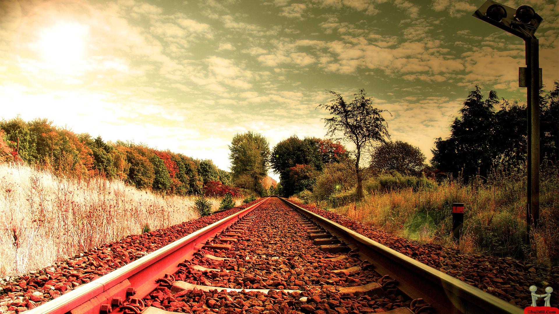 Beautiful Railway Track HD Wallpaper E Entertainment 1920x1080