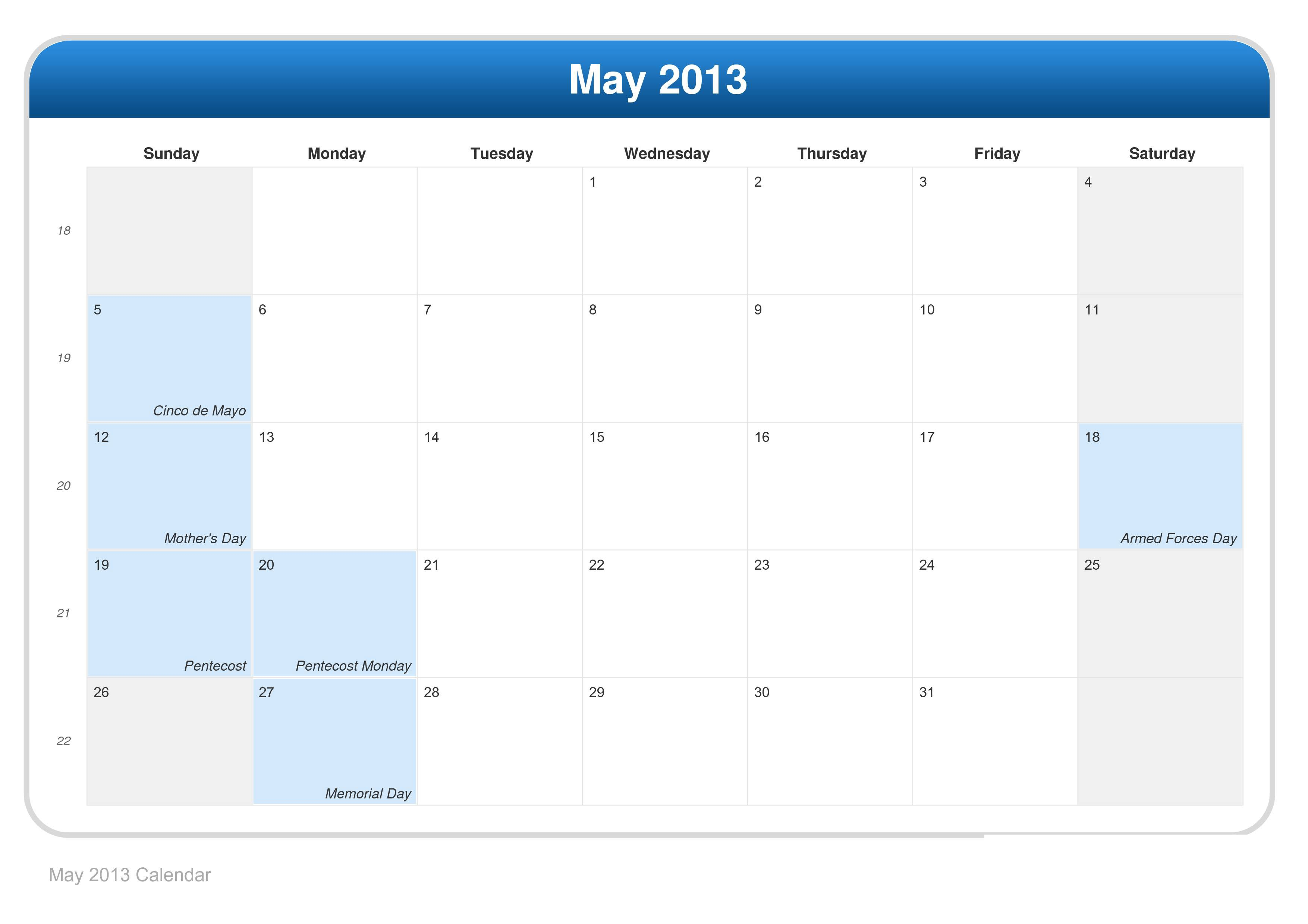 Month Of May 2013 Calendar Images TheCelebrityPix 3508x2480