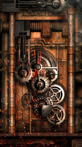 Steampunk Live Wallpaper Gears Fly IQ238 Jazz 288x512