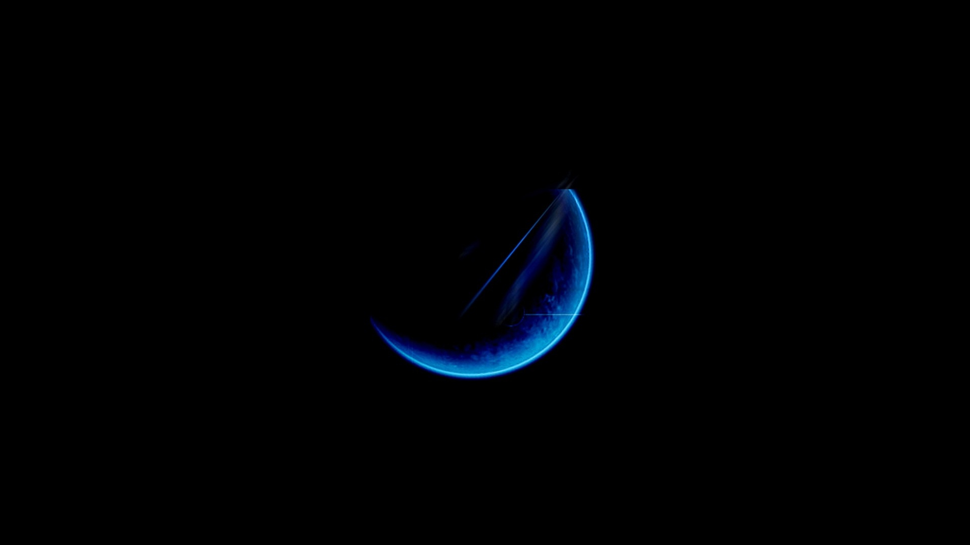 Hd Wallpaper 1920x1080 Black Blue: Dark Blue Moon Wallpaper