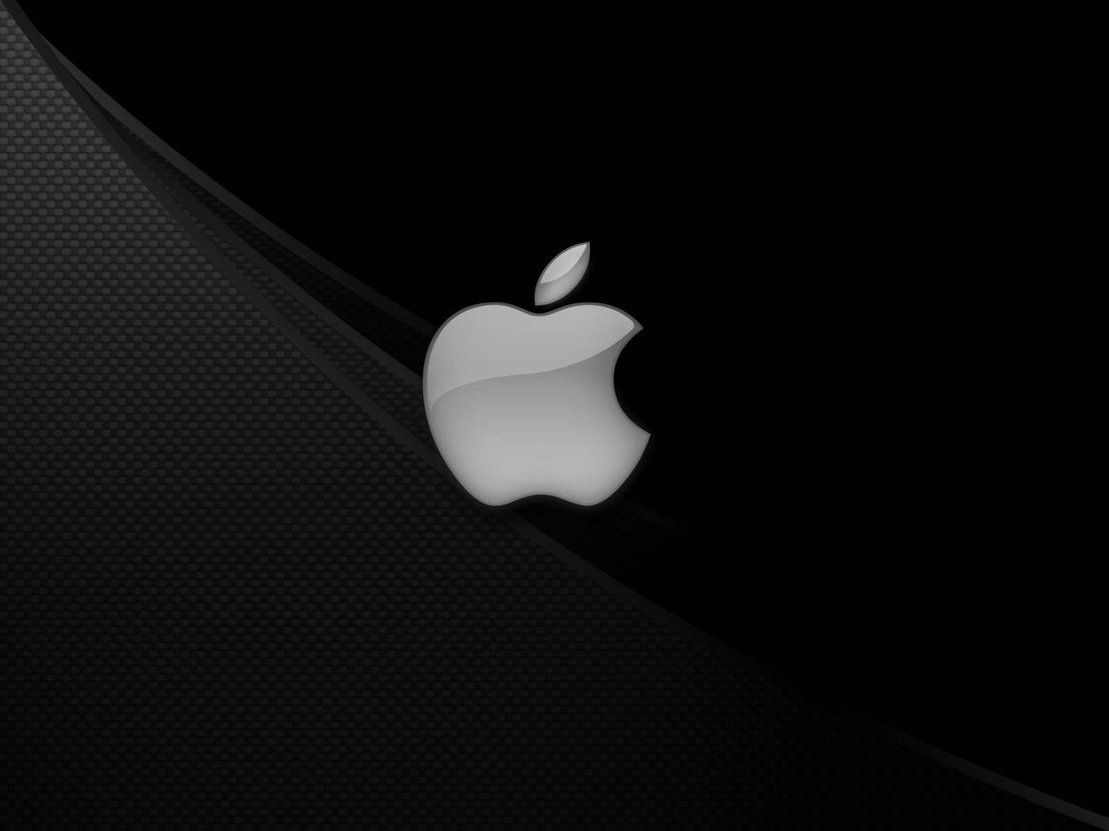 Apple Black and White HD Desktop Background Wallpapers 1600x1200