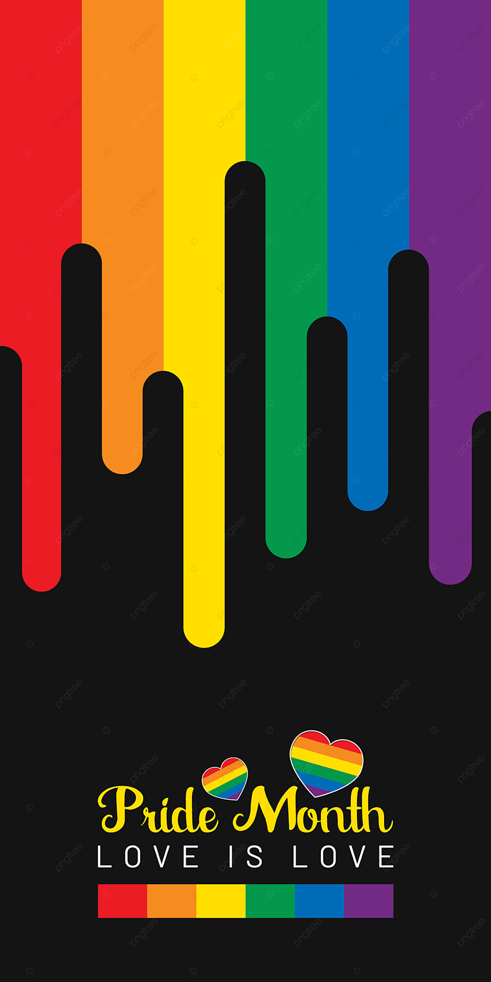 Pride Month Colorful And Black Background Mobile Phone Wallpaper 960x1920