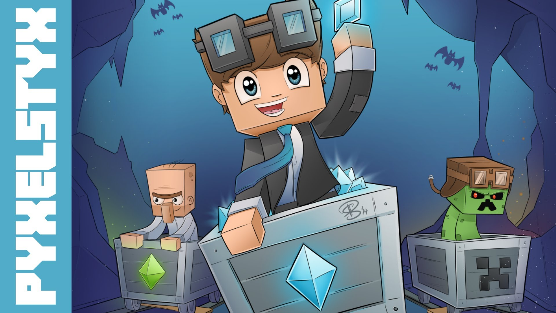 Minecraft SpeedART   TheDiamondMinecart 1920x1080