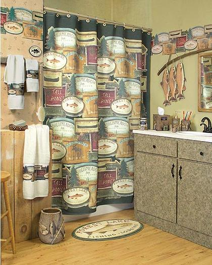 Fishing Lodge lodge and cabin bathroom accessories gallery 420x524