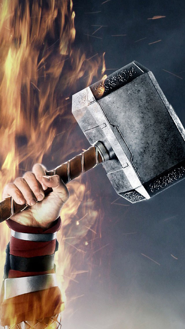 photo collection thor hammer wallpaper phone