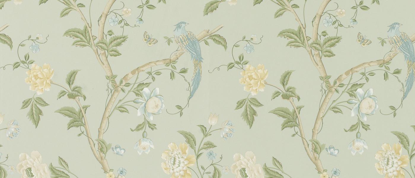 Free Download Summer Palace Eau De Nil Floral Wallpaper At Laura