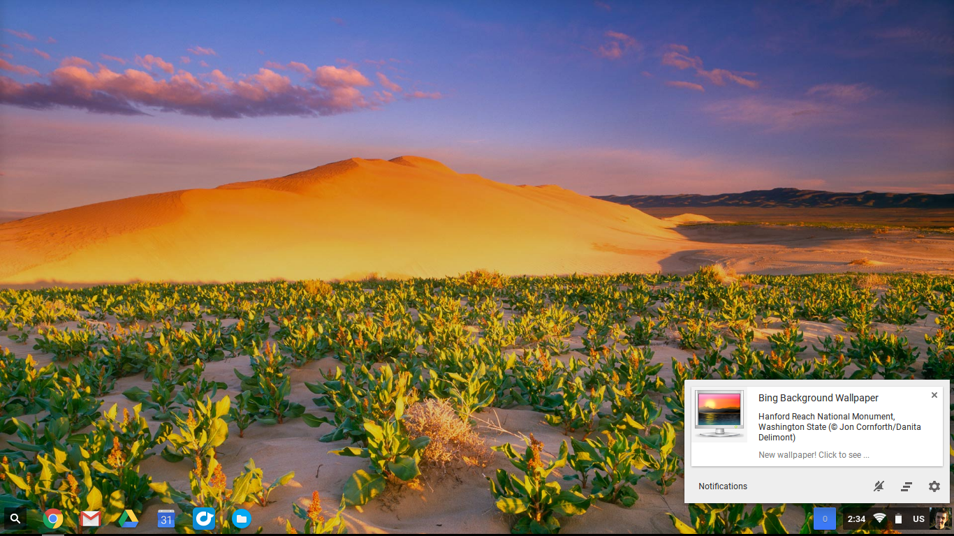 How to get beautiful new wallpapers on your Chromebook every day 1366x768