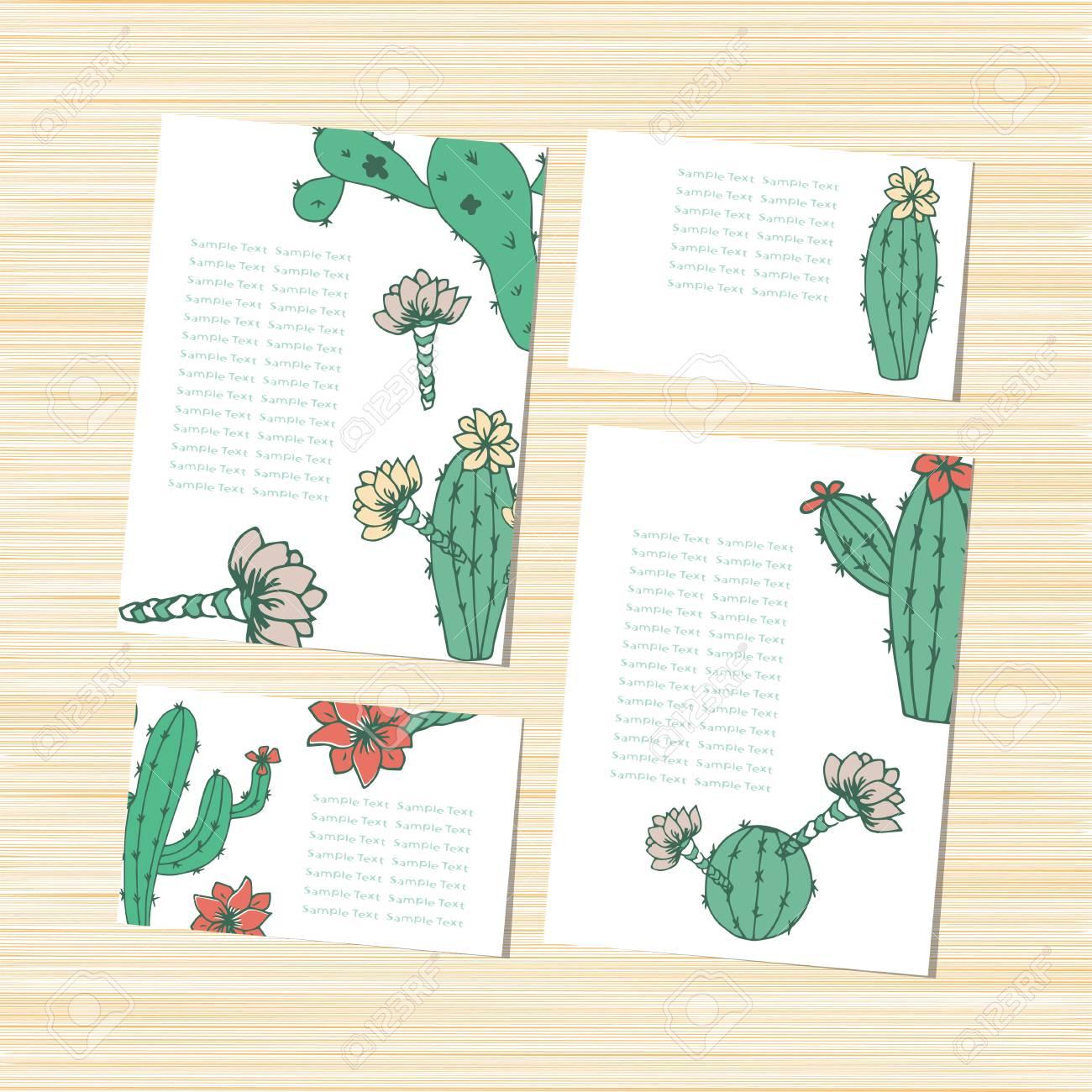 Cactus Peyote Template Wedding Invitation Postcard Background 1300x1300