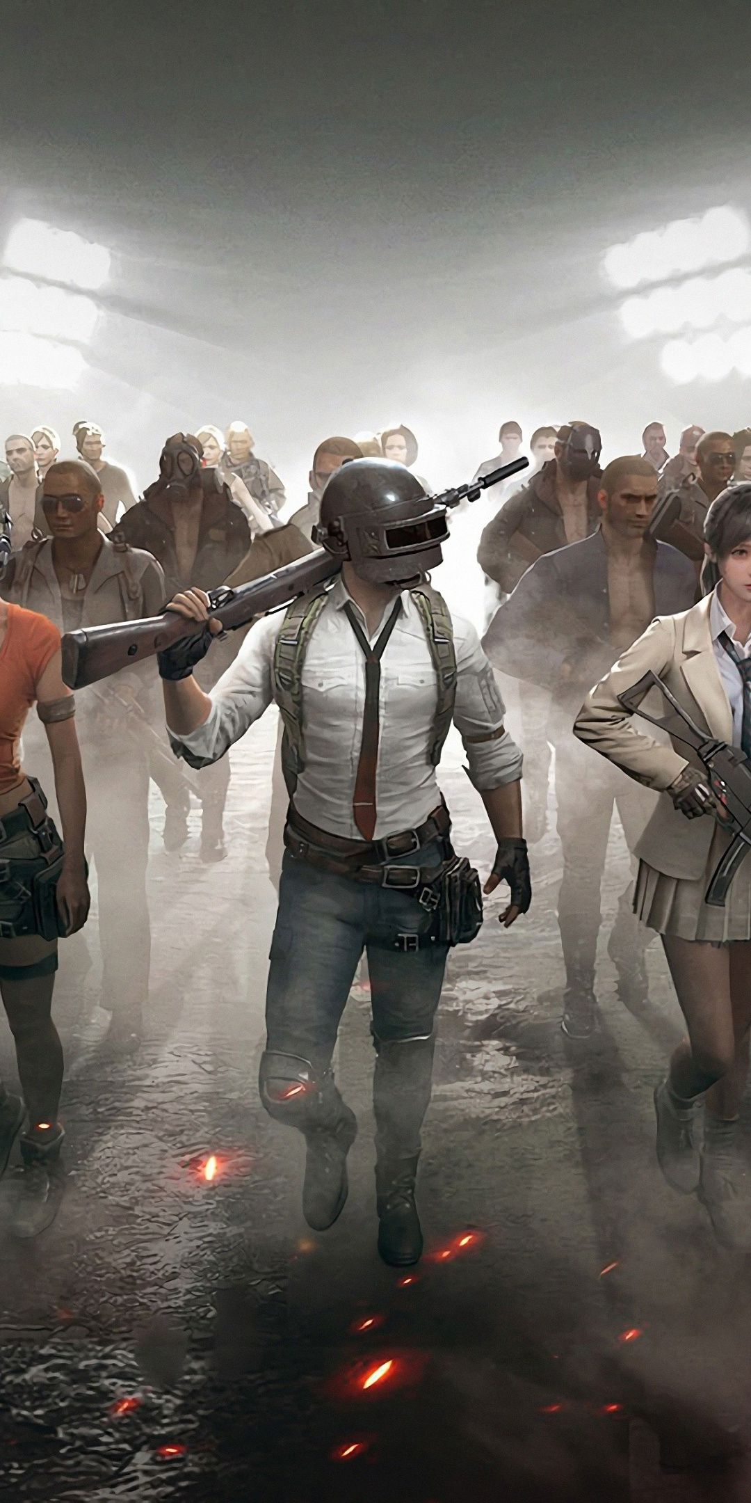 PUBG PlayerUnknowns Battlegrounds video game characters 2018 1080x2160